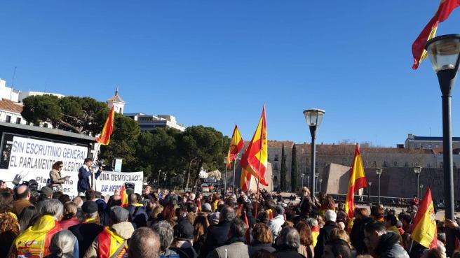 Concentración de Madrid, Plaza de Colón.
